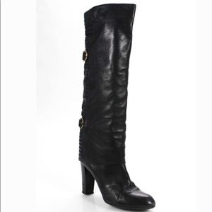 *Available*Sergio Rossi leather knee high bootsz39